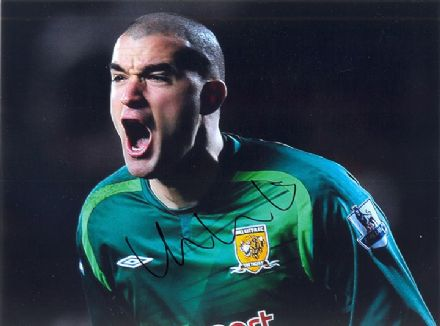 Boaz Myhill, Hull City, signed 8x6 inch photo.
